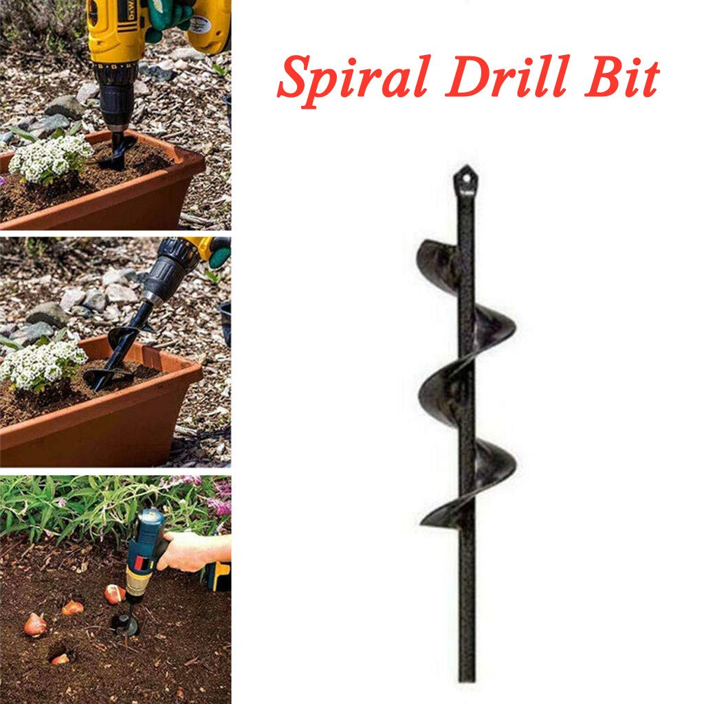 Power Plante 46370mm Extended Length Bulb & Bedding Plant Auger, KCPer Planter Garden Auger Hole Digger Drill Bit Attachment