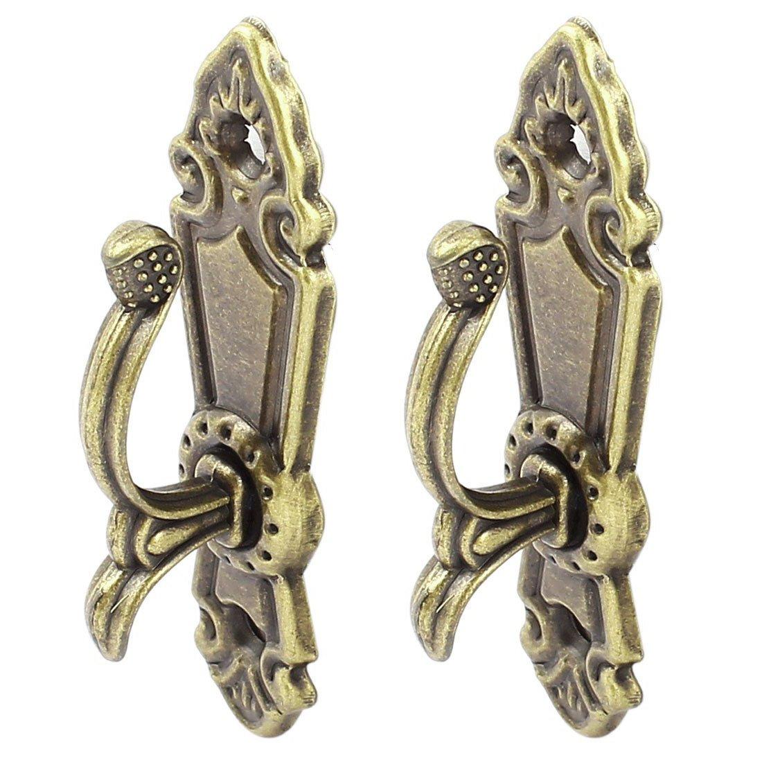 Nrpfell Embrasse De Rideau à Vis avec Gland,Crochet pour Embrasse Bronze 2 Pièces