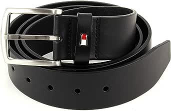 Tommy Hilfiger New Denton Belt 4.0 AM01001-909 - Cinturón de piel, color negro: Amazon.es: Zapatos y complementos