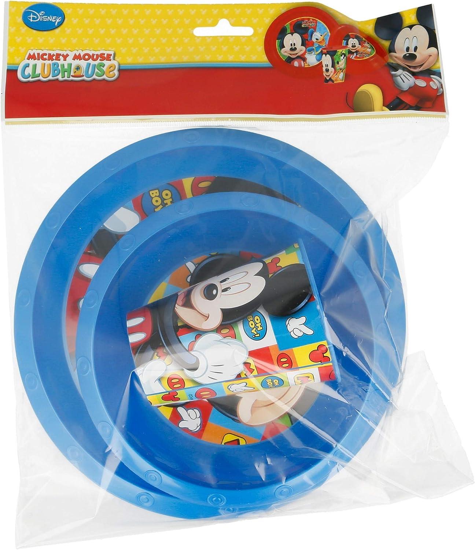 Mehrfarbig Teller, Sch/üssel und Becher Elemed 23710 Minnie 3 St/ück Easy Set