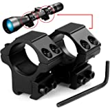 """LIRISY 1"""" Scope Mount Low Profile Scope Rings for 11mm Dovetail Rails (2 Pieces)"""