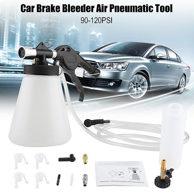 Amazon.com: Qiilu Brake Bleeder,Car Brake Bleeder Bleeding Fluid Change Kit Air Pneumatic Garage Vacuum Tool Set 90-120PSI: Electronics