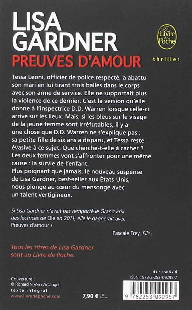 Preuves Damour Thrillers Amazones Lisa Gardner Libros