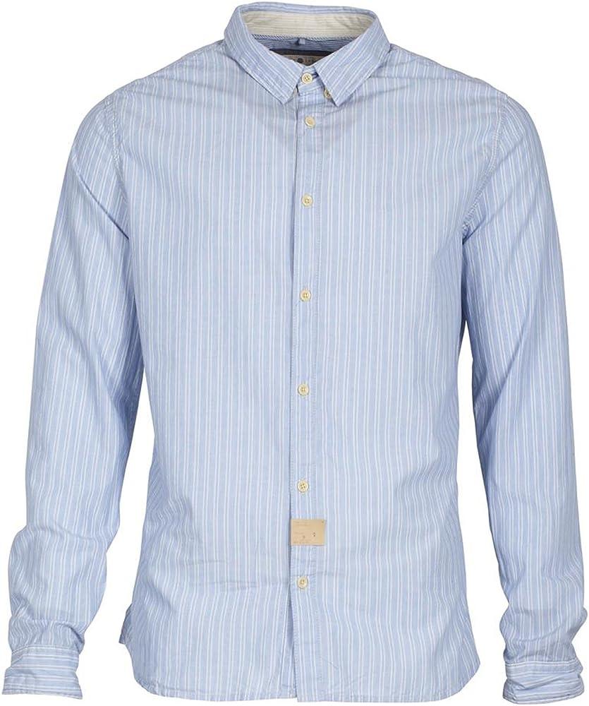 Blend of America - Camiseta Deportiva - Camisa - Moderno Kent - Manga Larga - para Hombre Azul XX-Large: Amazon.es: Ropa y accesorios