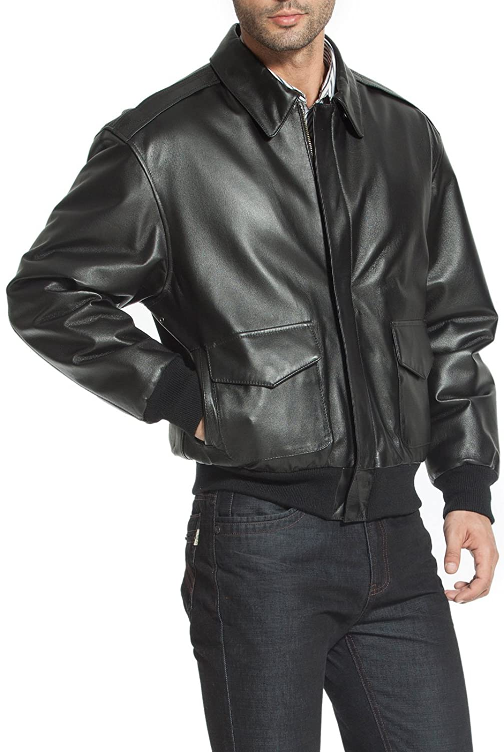 Leather jacket repair vancouver - Landing Leathers Men S Air Force A 2 Leather Flight Bomber Jacket At Amazon Men S Clothing Store
