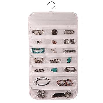 Amazoncom Hanging Jewelry Organizer 37 Pockets Bedroom Closet