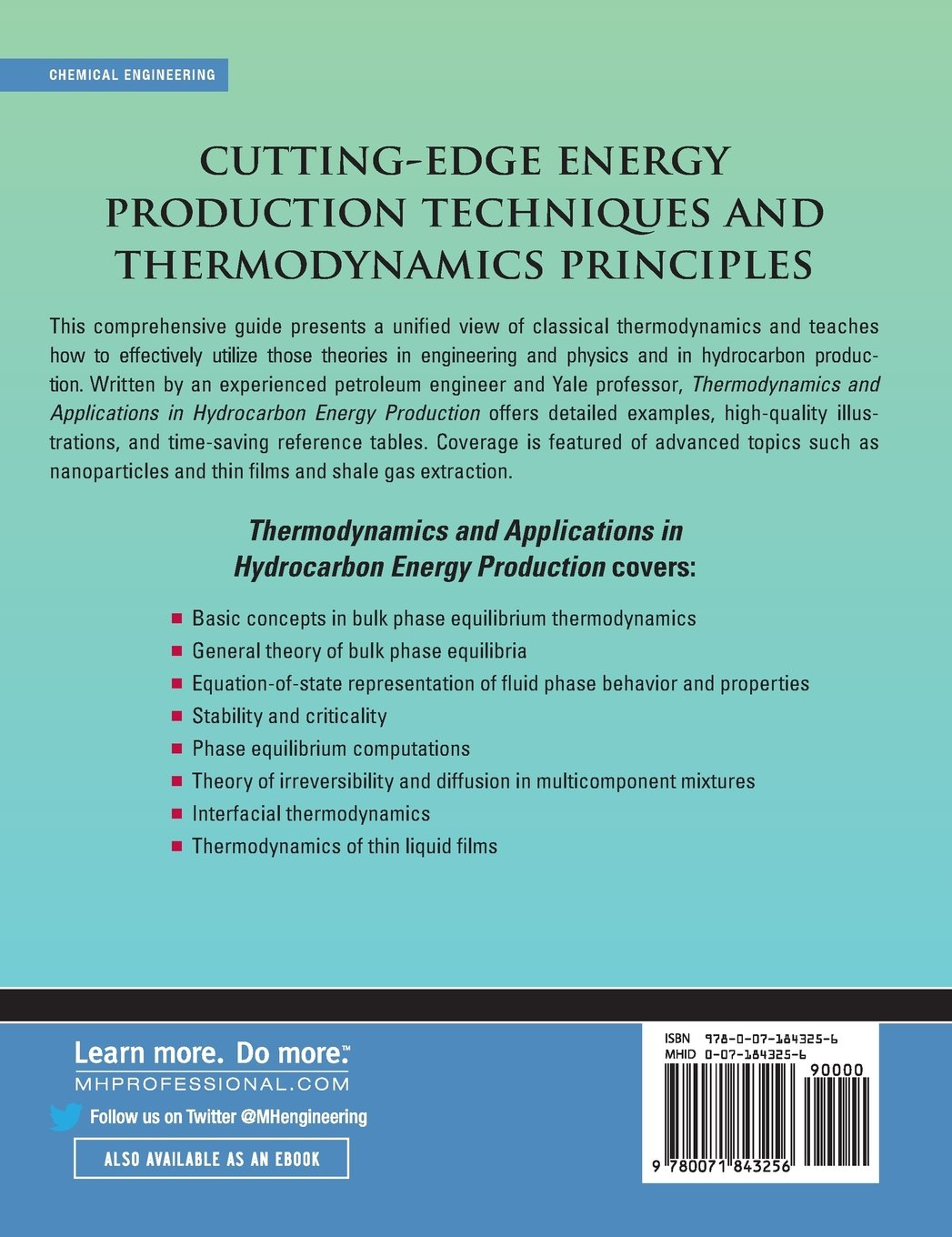 Thermodynamics and applications of hydrocarbons energy production thermodynamics and applications of hydrocarbons energy production abbas firoozabadi 9780071843256 books amazon fandeluxe Gallery