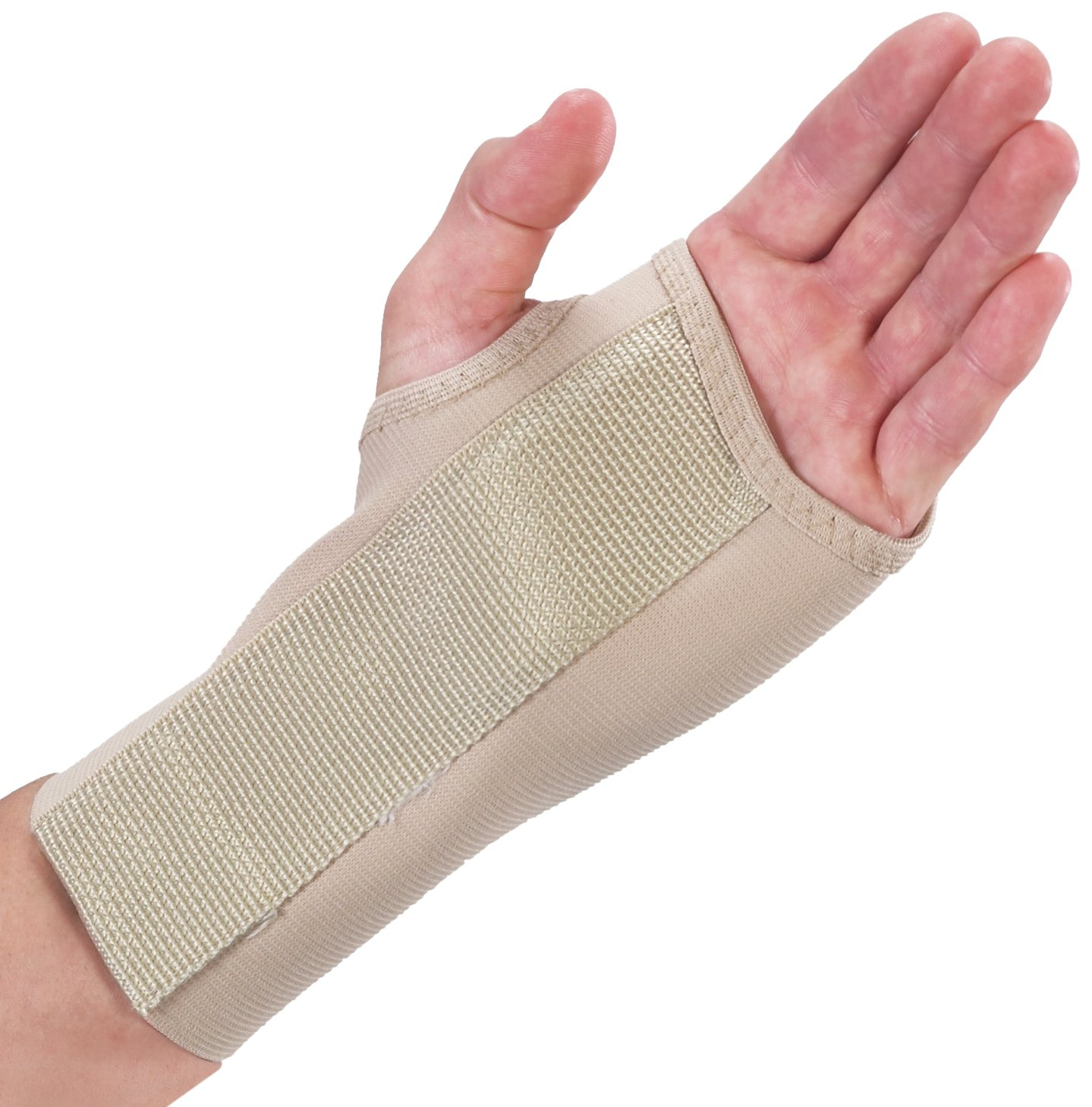 Bilt-Rite Mastex Health 7 Inch Left Wrist Splint Medium Beige