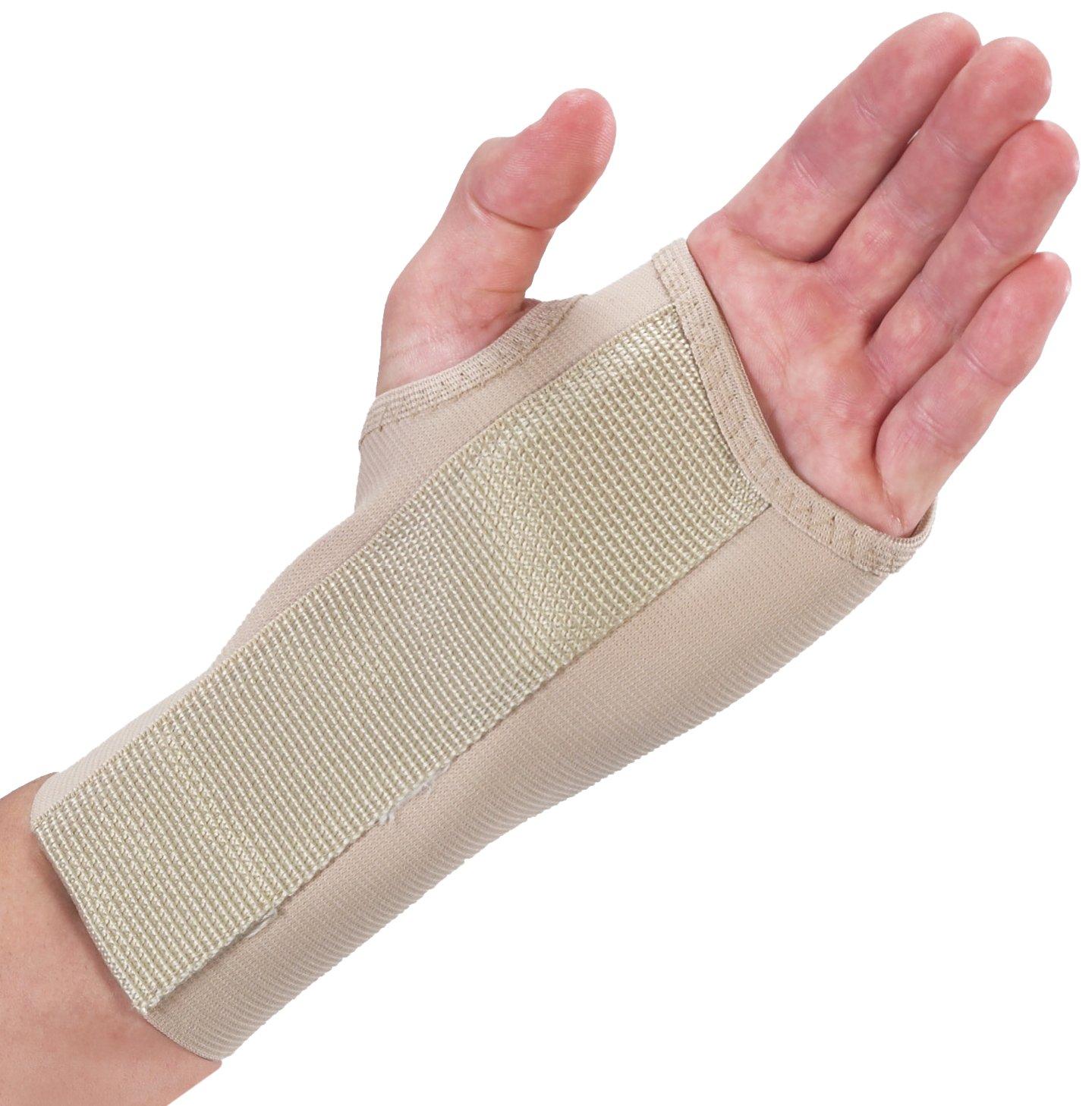 Bilt-Rite Mastex Health 7 Inch Right Wrist Splint, Beige, X-Large
