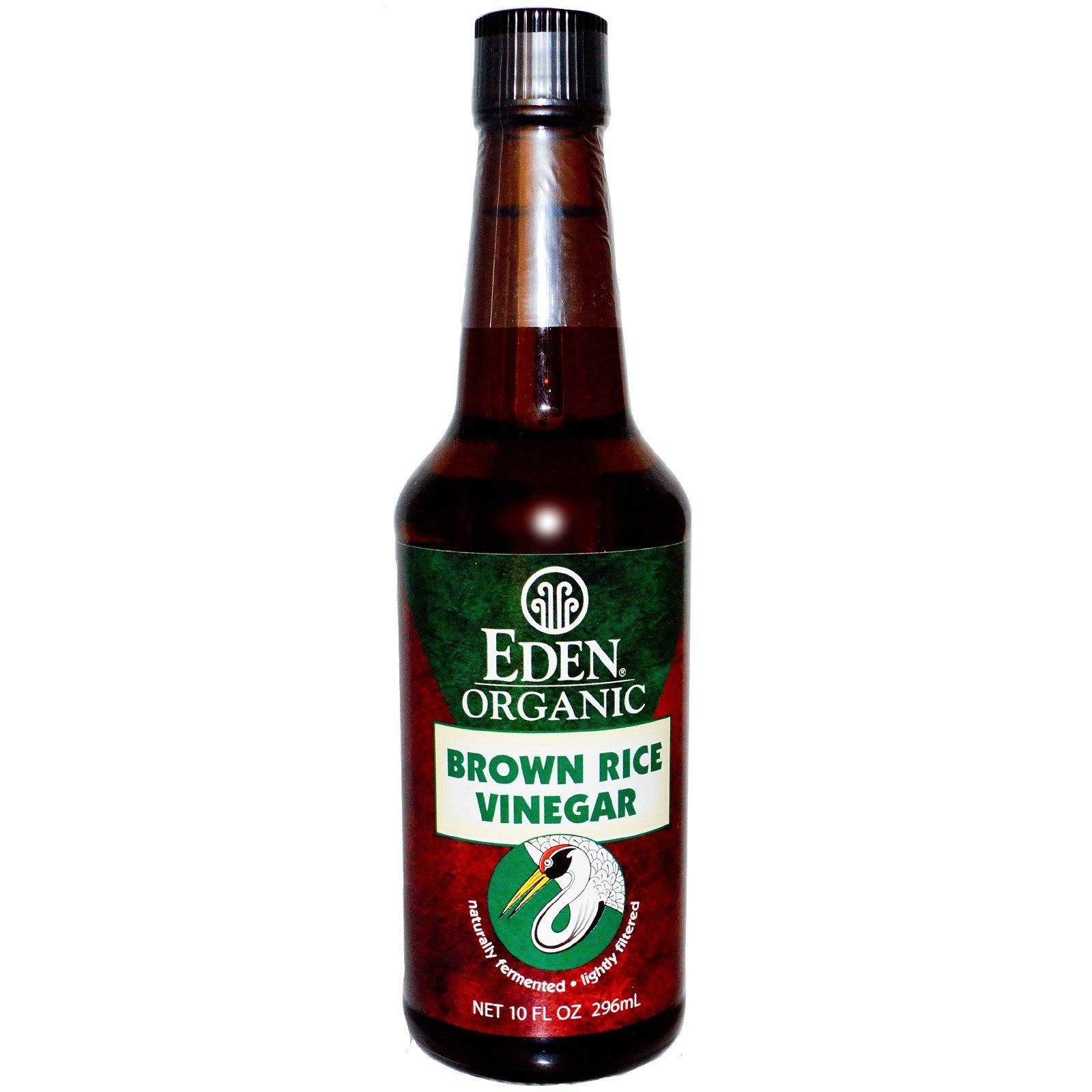Eden Foods, Organic, Brown Rice Vinegar, 10 fl oz (296 ml) - 2pc