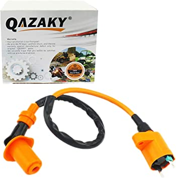 QAZAKY Performance Ignition Coil for GY6 50cc 125cc 150cc 4-stroke Engine Scooter ATV Go Kart Moped Quad Pit Dirt Racing Bike