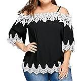 Winwintom 2018 Grande Promotion Liquidation Grande Vente Femmes de Grande Taille T-Shirt à éPaules DéNudéEs Hauts DéContractéS à Manches Courtes Chemisier Dames sans Bretelles
