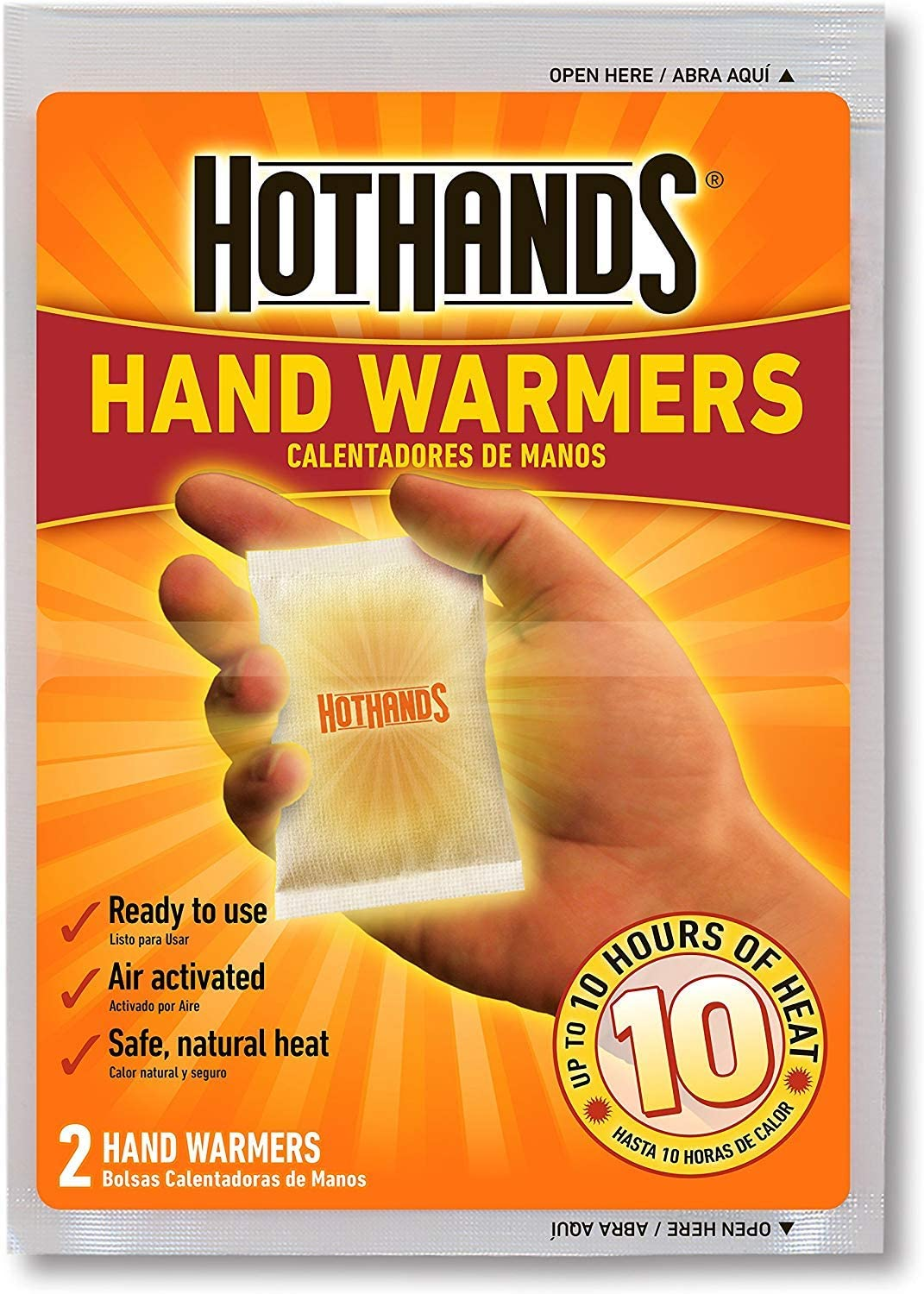 10hrs Heat HotHands 5 Pair Pack Hand Warmers Outdoors Sports Warming