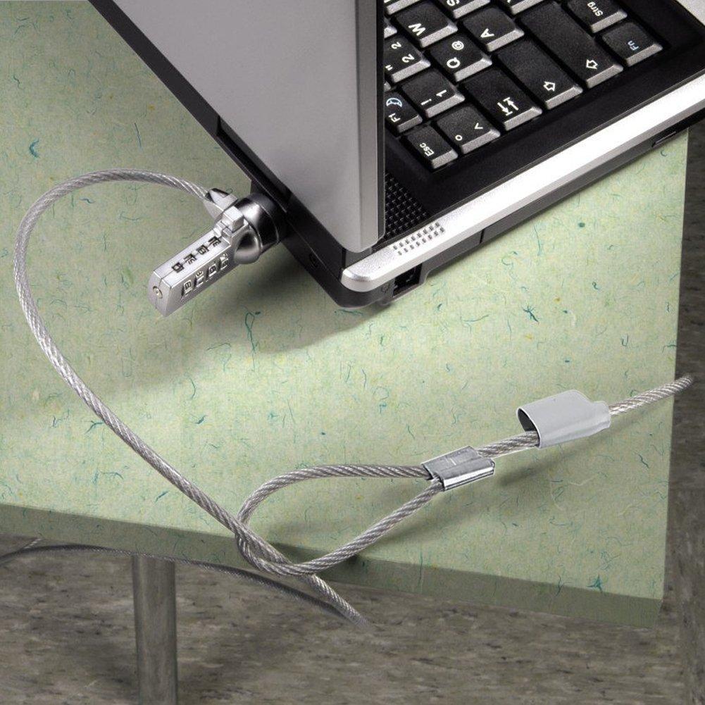 VGEBY Portátil Cerradura de Combinación Cable de Seguridad de disuasión Cadena Contraseña Portátil 4 dígitos: Amazon.es: Electrónica