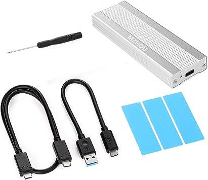 MZHOU de Disco Duro Externa USB 3.1 para SSD NVMe PCIe M.2 Carcasa ...