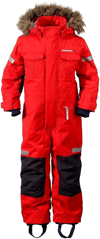 89393e06c7ff Didriksons Migisi Kids Snowsuit - Tomato Red (120 cm)  Amazon.co.uk   Clothing