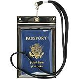StoreSMART - Zipper Passport Holder w Lanyard - Clear Front - SPCR1596ZIPS-1