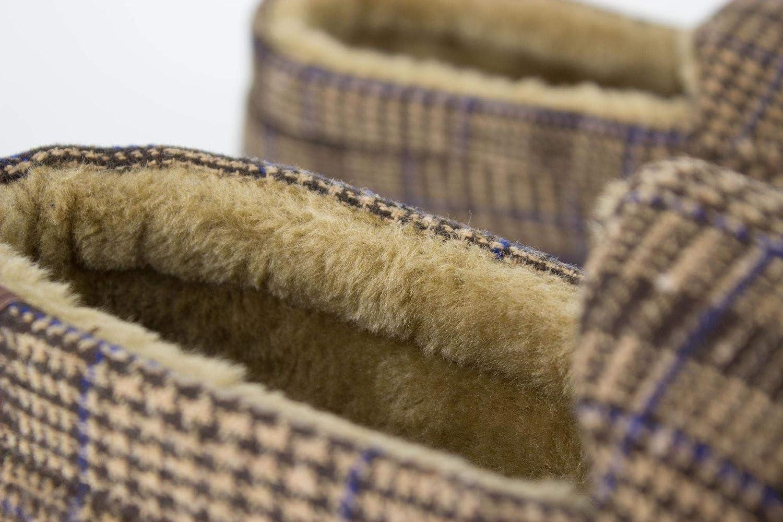 Fenside Country Clothing Pantuflas para Hombre Estilo mocas/ín con Forro de Felpa de Forro Polar sint/ético