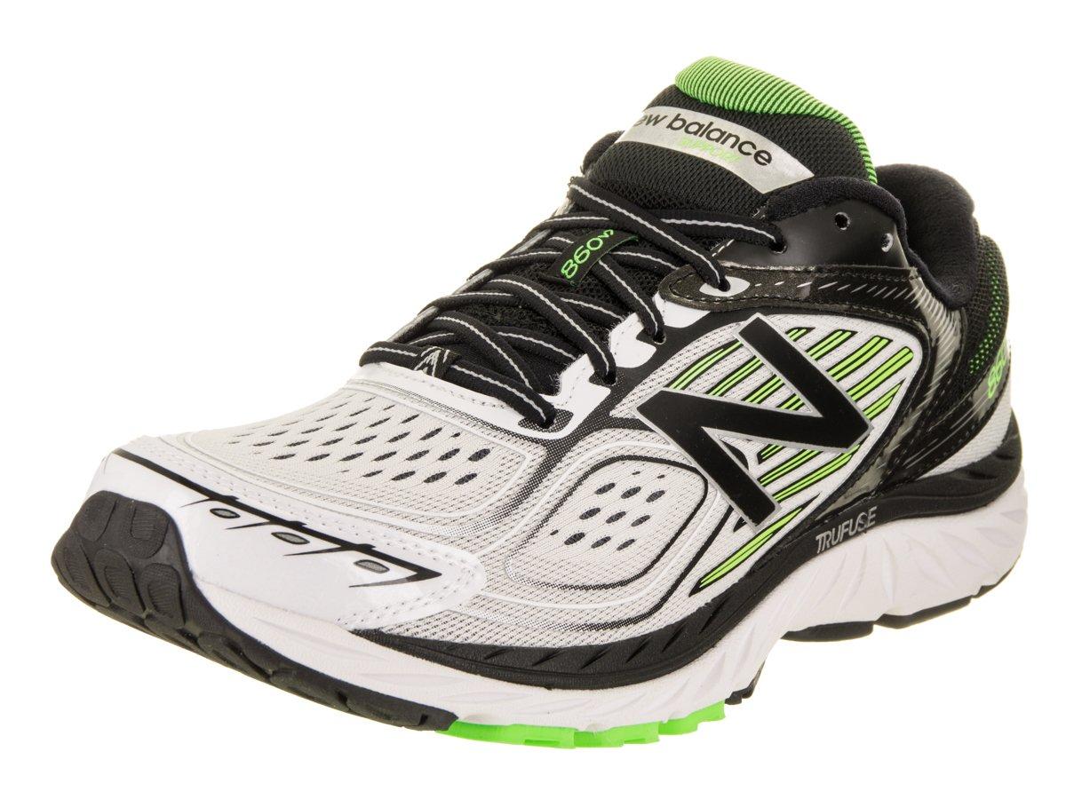 New Balance Men's M860wb7 Running Shoe B01N2JKUAR 8 D(M) US White/Black
