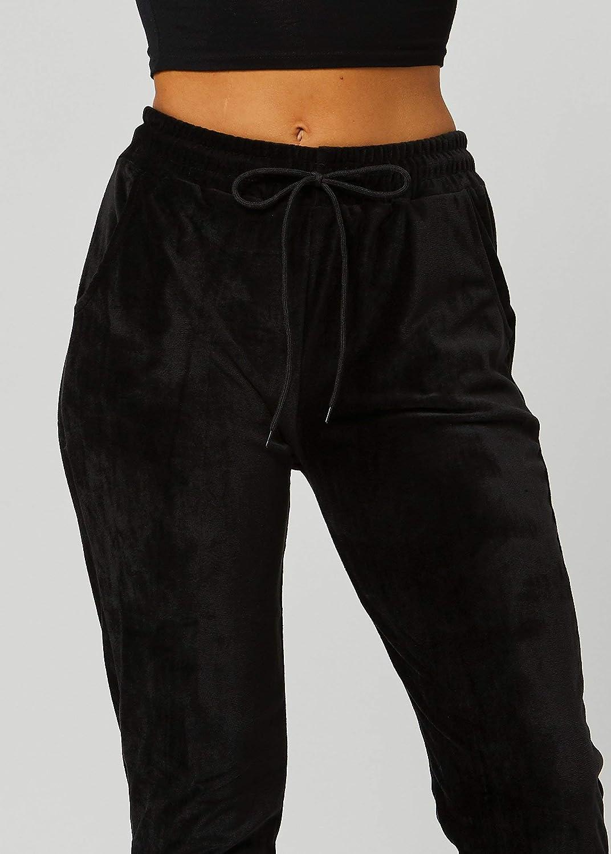 YJFFBH Leggings De Terciopelo De Invierno Pantalones Calientes De Las Mujeres De Color S/ólido Resistente Al Fr/ío Leggings El/ásticos C/ómodos Mantener El Calor Lana