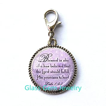 Bible Quote Zipper Pull Best Friend God Refuge Strength Birthday Gift Mom Daughter Jewelry