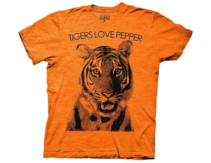 63bcd12c434 Ripple Junction The Hangover Tiger Loves Pepper Adult T-Shirt Small Orange