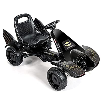 HONEY JOY Go Kart, Pedal Cart with Hand Brake, 2 Adjustable Seats, Gear, 4 Wheel Ride On Car for Boys & Girls Aged 3-8 Years Old (Black): Toys & Games