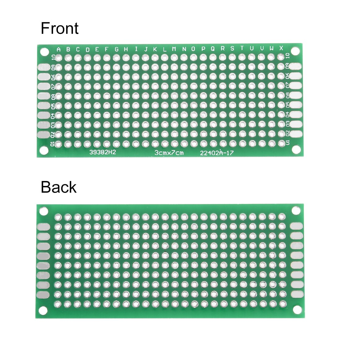 Uxcell 7x9cm Double Sided Universal Printed Circuit Board For Diy Pic Programmer Soldering 10pcs A18061500ux0234