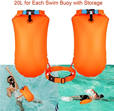 Waterproof Dry Sack Bag Swim Safety Float Pouch for Snorkelers Kayakers