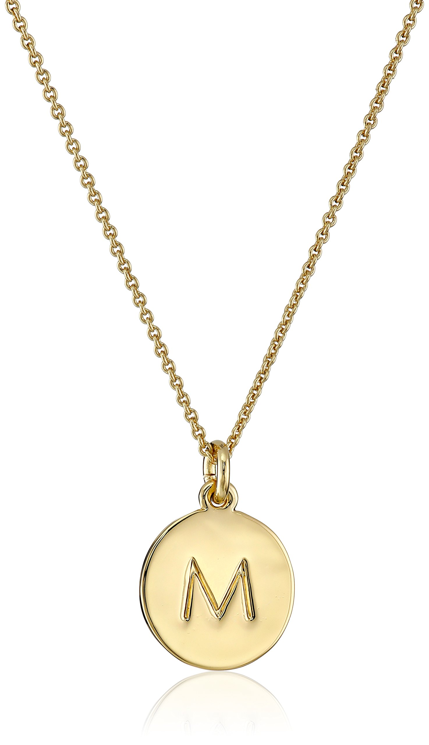 kate spade new york ''Kate Spade Pendants'' ''M'' Pendant Necklace, 18'' by Kate Spade New York