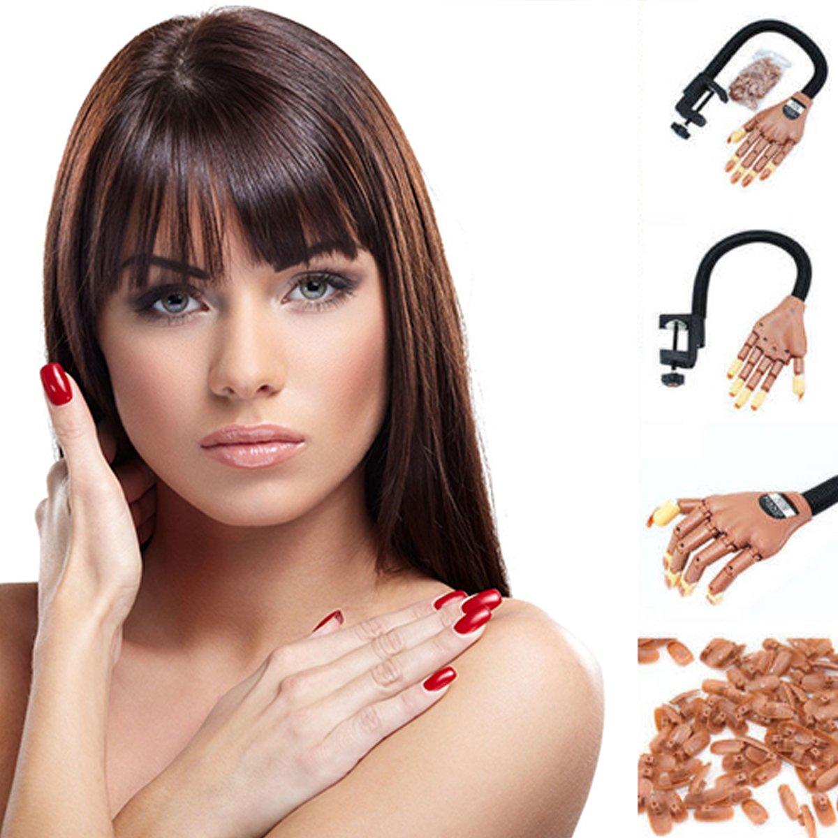 Medida de vida ajustable para el aprendizaje de manos, herramienta de maquillaje, dedo falso, 100 piezas de puntas de uñas Unknown