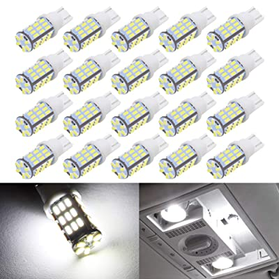 BOODLIED 20pcs Super Bright RV Trailer 921 194 T10 3014 42-SMD 12V Car Backup Reverse LED Bulbs Width LED Lights 6000K Xenon White.: Automotive