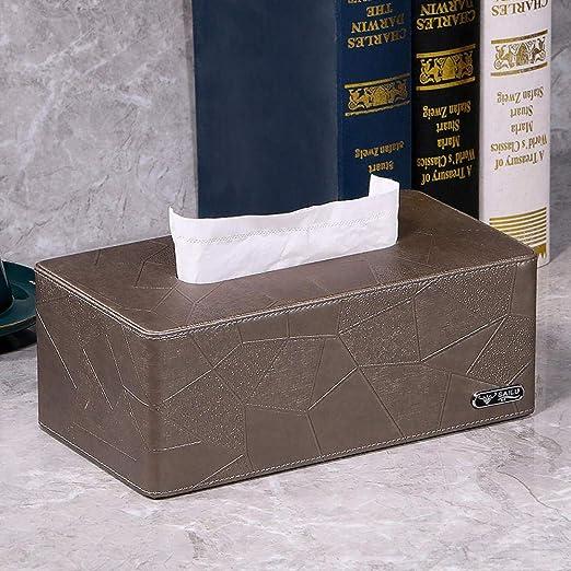 LIUJUAN Caja De Pañuelos Piel Caja Pañuelos Caja Cajones Hogar ...