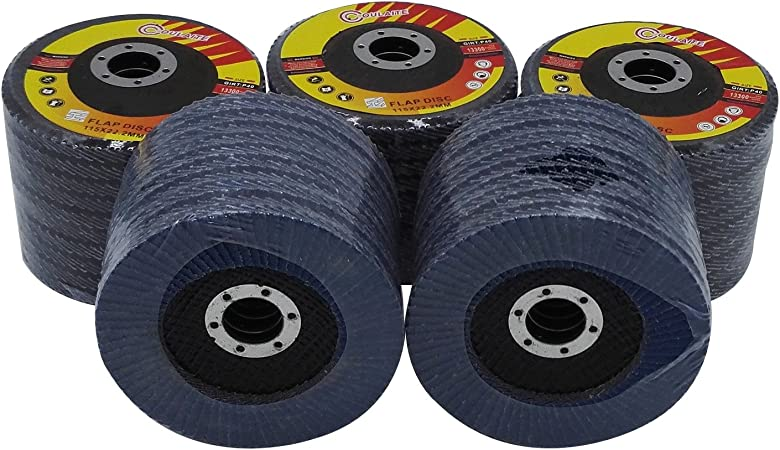 "50 Pack 4.5/"" x 7//8/"" Flap Disc Grinding Wheel 60 Grit T27"