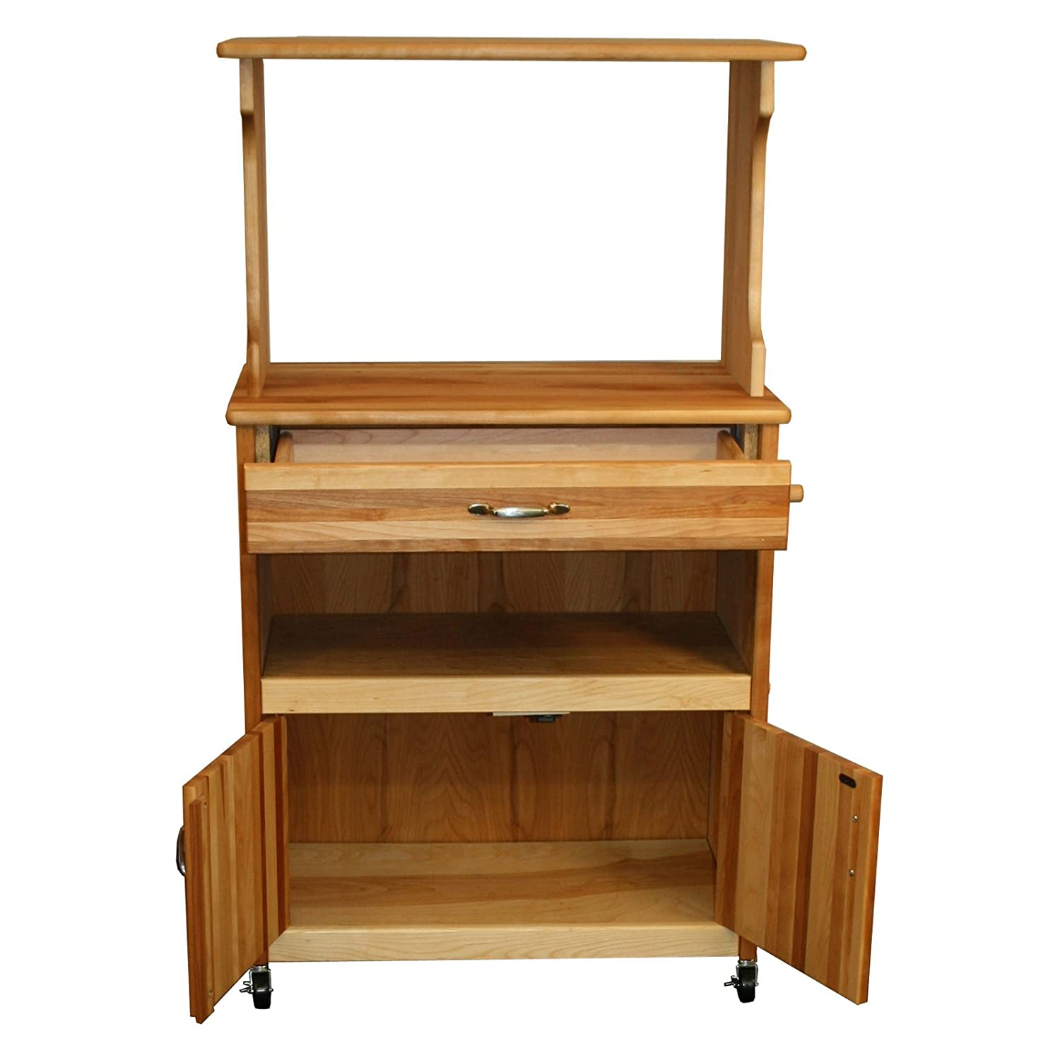 catskill craftsmen deluxe microwave cart bar