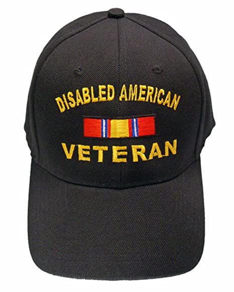 9ad70447ed0 Image Unavailable. Image not available for. Color  DAV Cap Disabled  American Veteran Baseball Cap Black Hat Army Navy Marines