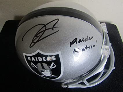 Derek Carr Autographed Signed Inscr Oakland Raiders Full Size Helmet  Signature - Beckett Authentic 42fa3ff0a