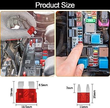 320 Pezzi Fusibile Set di Profilo Mini Medio 2A 3A 5A 7.5A 10A 15A 20A 25A 30A 35A 40A per Automobili Camion SUV Con 2 estrattori di fusibili 1 scatola di Valigetta Aimocar Fusibili Auto assortiti/