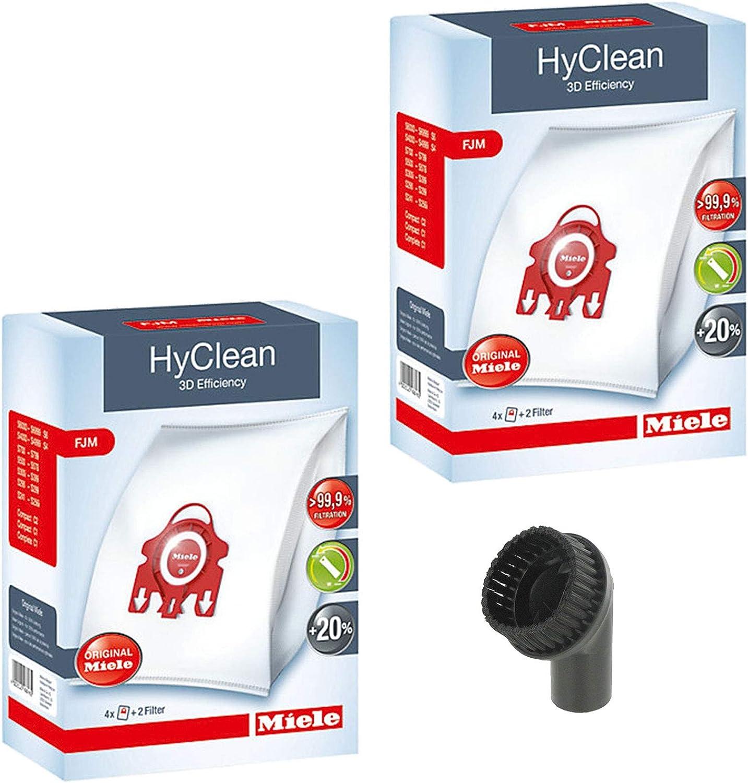 Spares2go Cepillo para polvo + Genuine Miele FJM S6 S6210 S6220 S6240 S6290 S6730 Bolsas para aspiradora (2 cajas): Amazon.es: Hogar