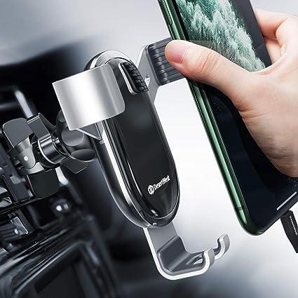 Handyhalterung Auto Lüftung Autohalterung Handy Halterung Schwerkraft Kfz Handy Halter Für Auto Kompatibel Mit Iphone 12 11 Pro Max Se Xr Galaxy S20 A50 Huawei P30 P20 Pro Navi Bis 7 Zoll Silber Auto