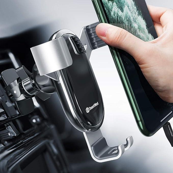 Handyhalterung Auto Lüftung Autohalterung Handy Halterung Schwerkraft Kfz Handy Halter Für Auto Kompatibel Mit Iphone 12 11 Pro Max Se Xr Galaxy S20 A50 Huawei P30 P20 Pro Navi Bis 7 Zoll