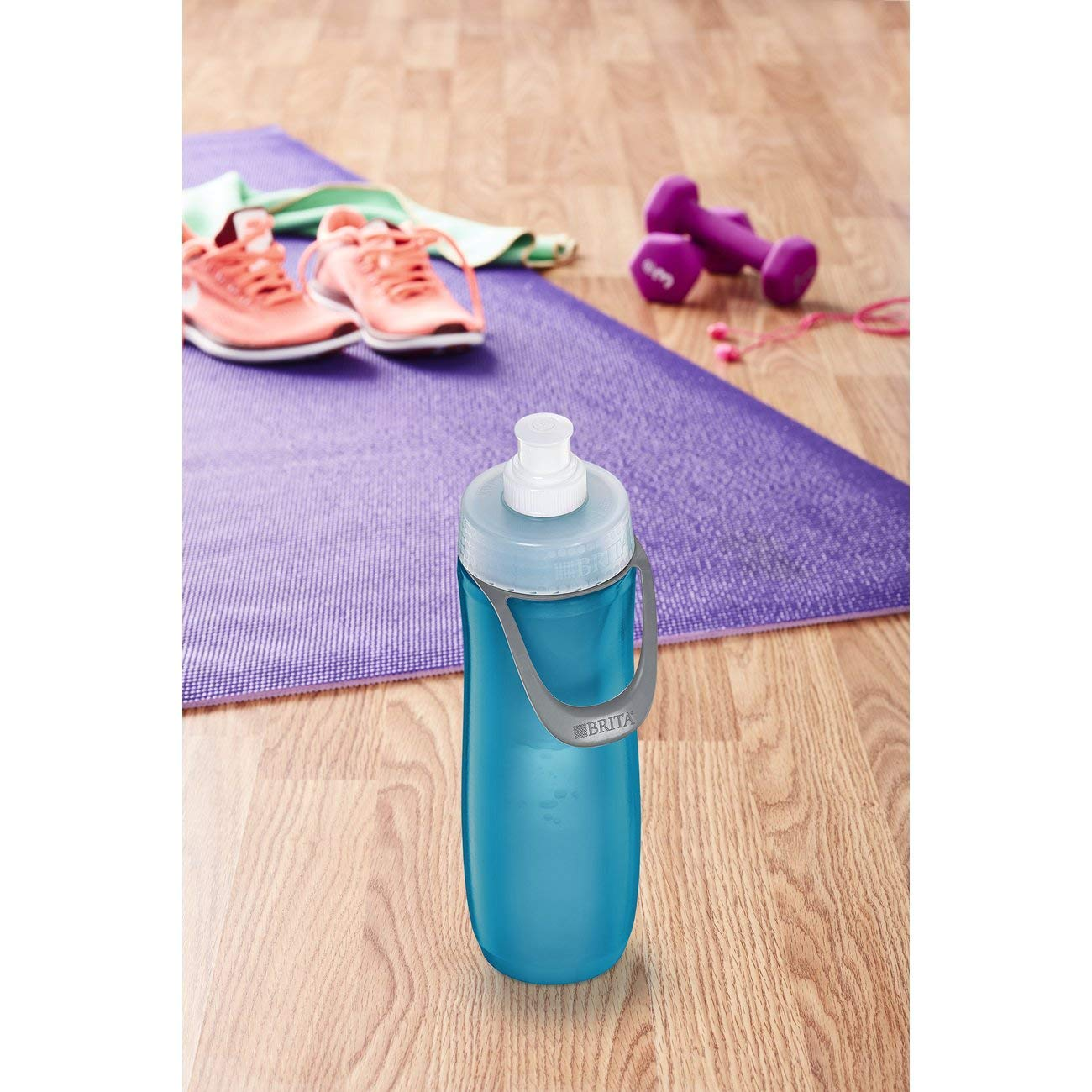 BPA Free 20 Ounce Sport Water Bottle with Filter