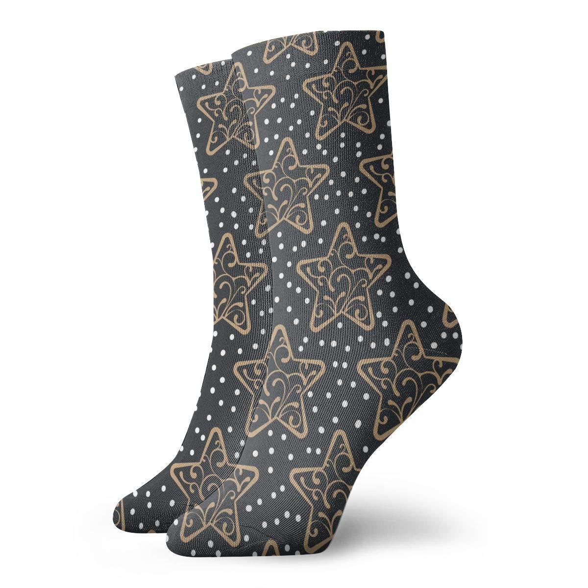 Star Snow Unisex Funny Casual Crew Socks Athletic Socks For Boys Girls Kids Teenagers