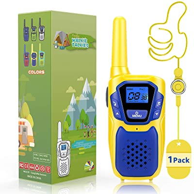 Topsung FRS Kids Walkie Talkies 1 Pack Long Range, Drop Proof GMRS 2 Way Radios Walkie-Talkies for Adults Camping Hiking, Kids Electronics Toys Gifts for Girls Boys Halloween Christmas Xmas Birthday: Toys & Games