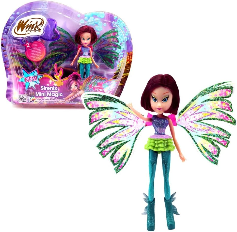 Amazon Com Winx Club Sirenix Mini Magic Tecna Doll With Transformation Toys Games