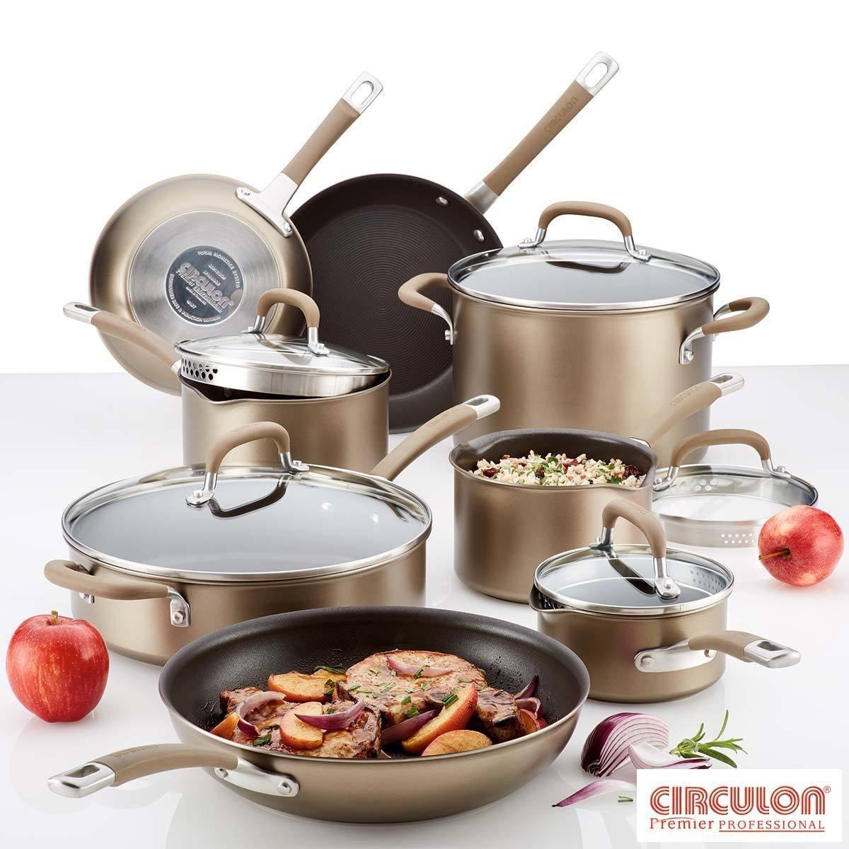 Conjunto de batería de cocina profesional de Circulon, 13 piezas ...