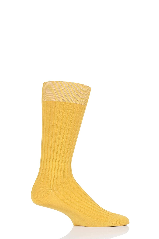 b093e8d71 Danvers Limited Edition Colours 5x3 Rib Cotton Lisle Socks