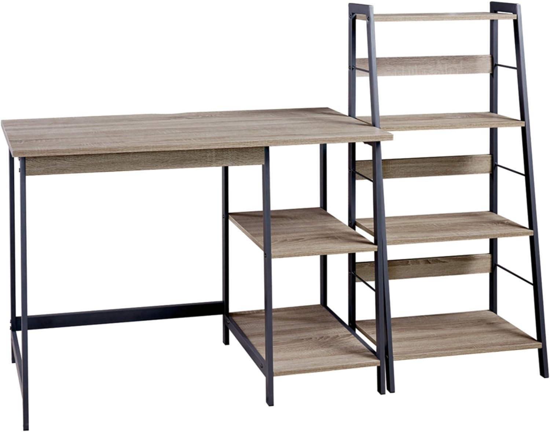 HomCom Wood Shelf Office Library Design 4 Shelves Modern 60×24×148cm