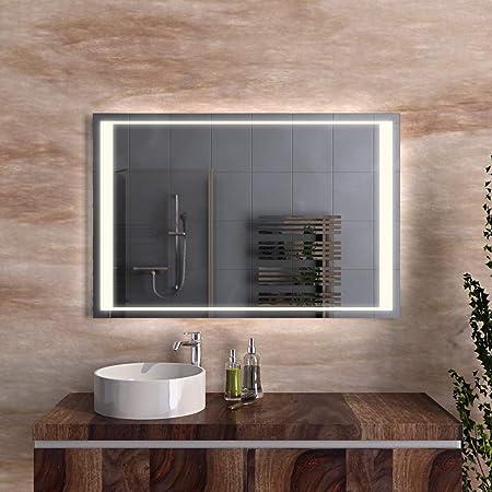 Specchio Da Bagno Con Luci Led.Led Specchio Bagno Illuminato Con Luce Led Specchio Da Bagno Con