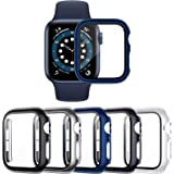 VASG 5-Pack Tempered Glass Screen Protector Case Compatible with Apple Watch Series 6 / SE/Series 5 / Series 4 44mm, Touch-Se